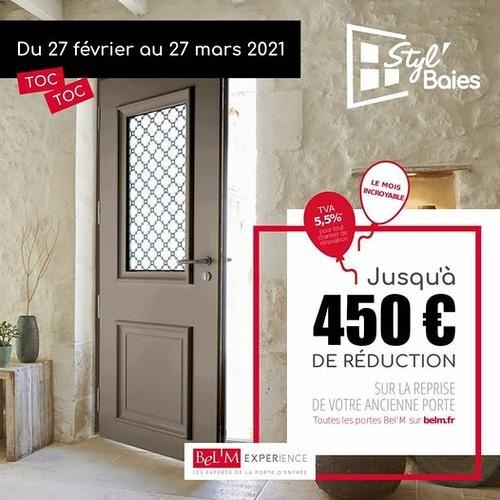 450 € de réduction sur l''achat d''une porte